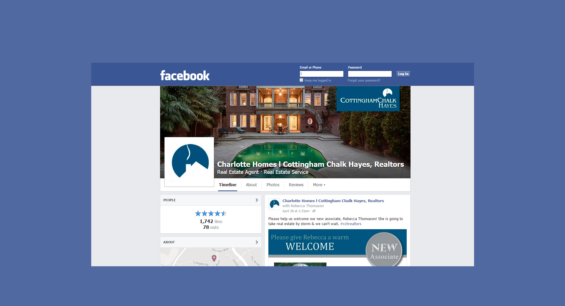 Cottingham Chalk Hayes Facebook Page Development