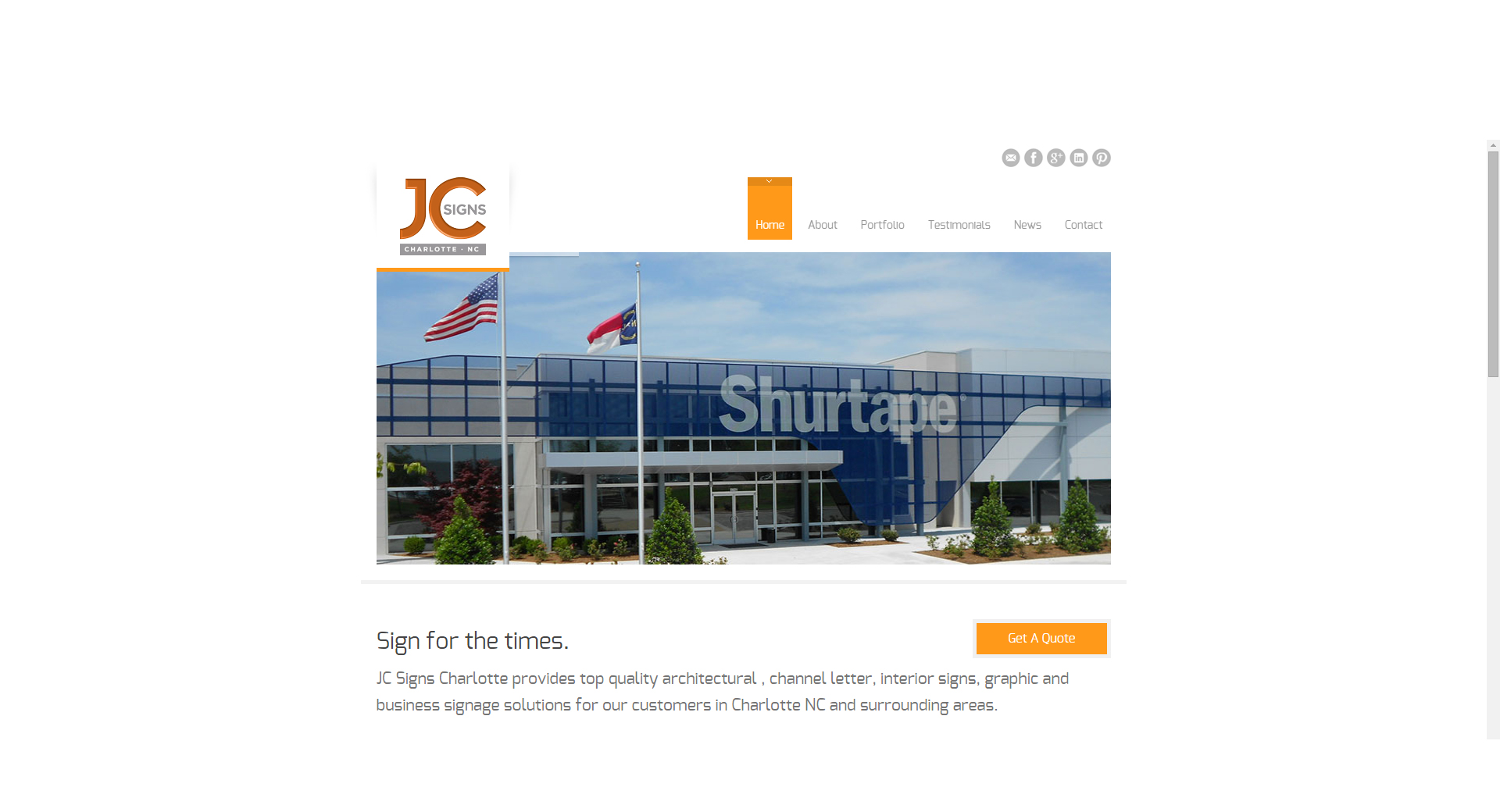 Website Design by CCP Web Design - JC Signs Charlotte