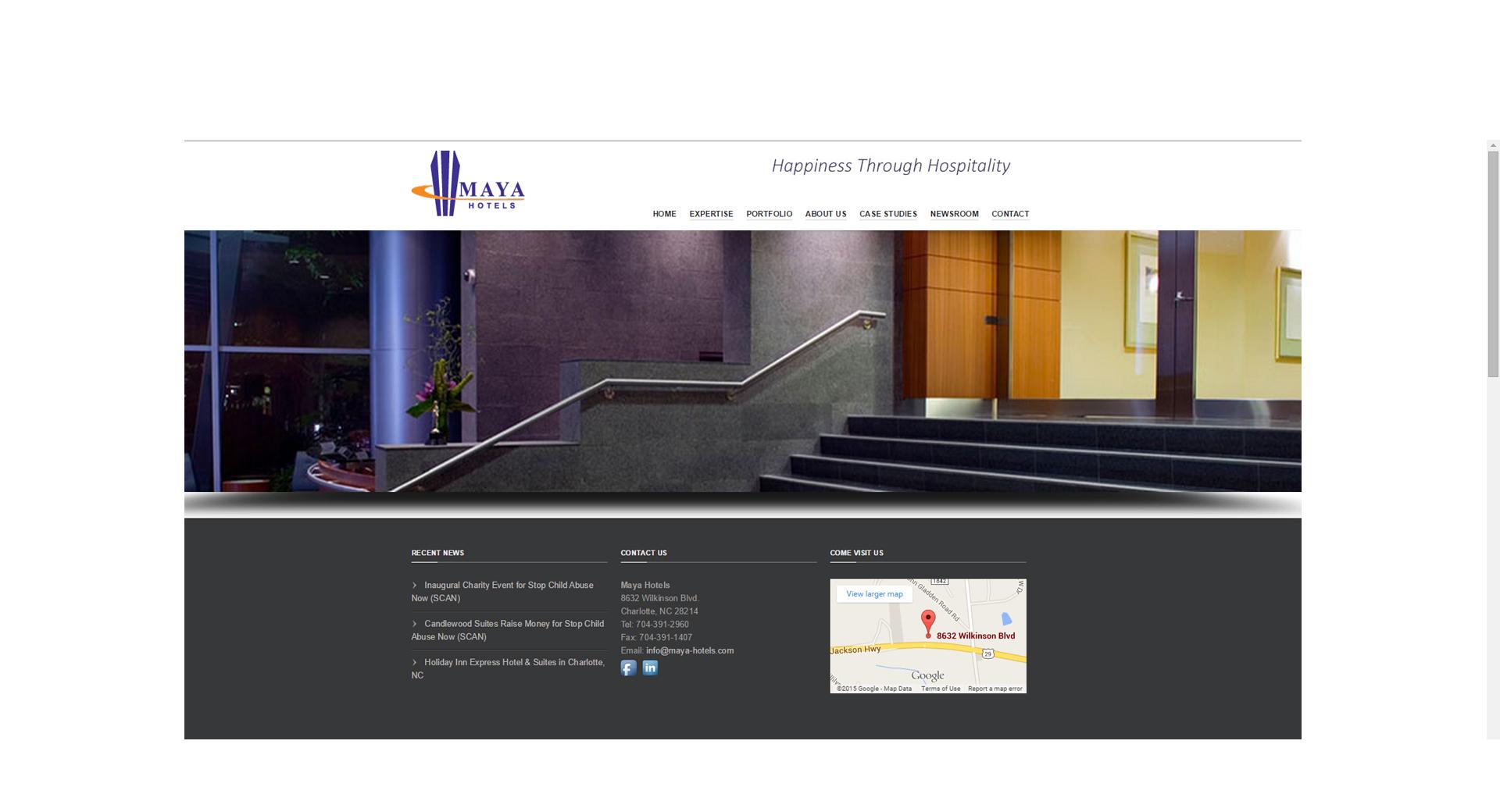 Website Design - Maya Hotels - CCP Web Design