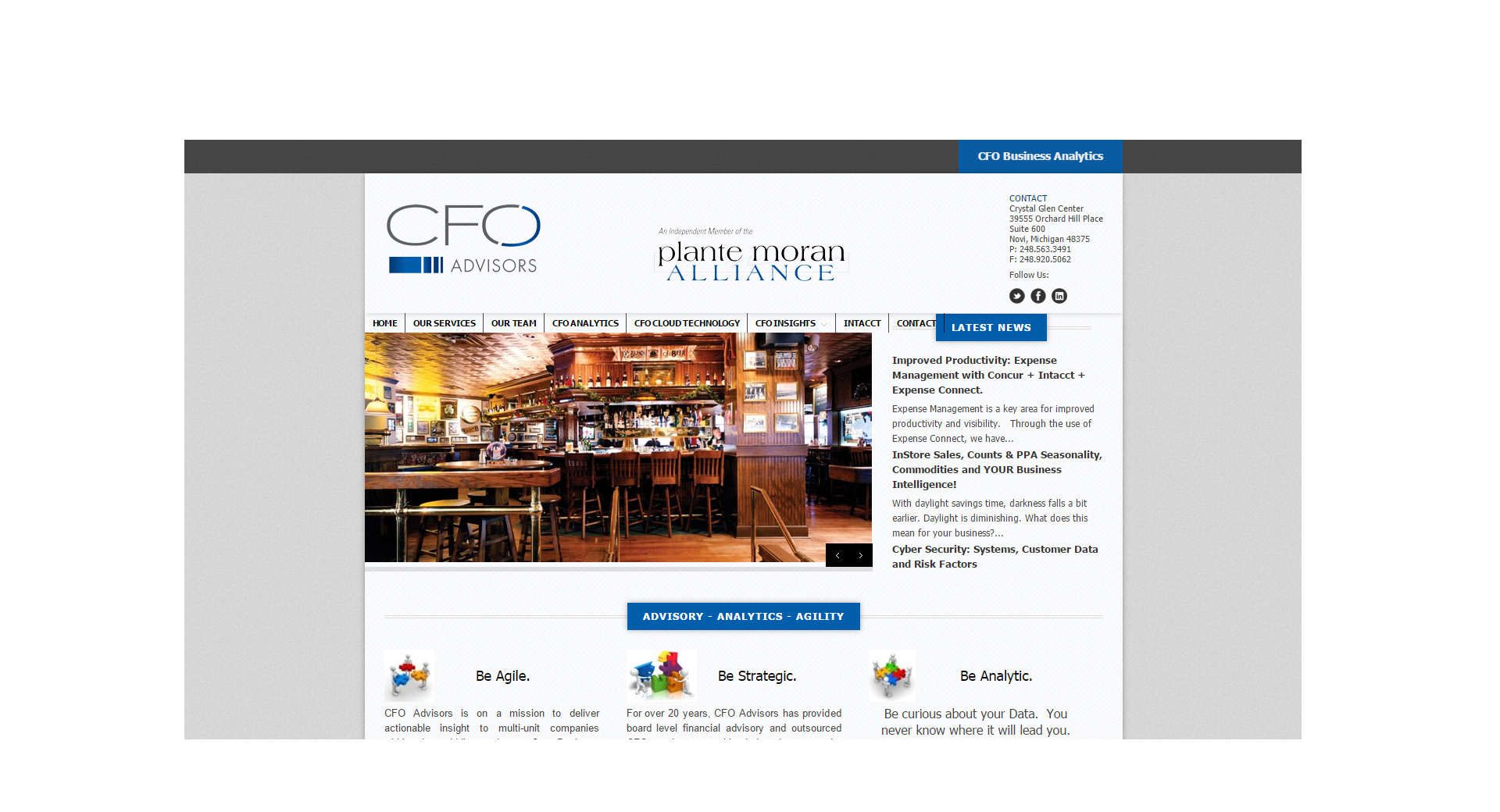 CFO Advisors - Website Design by CCP Web Design