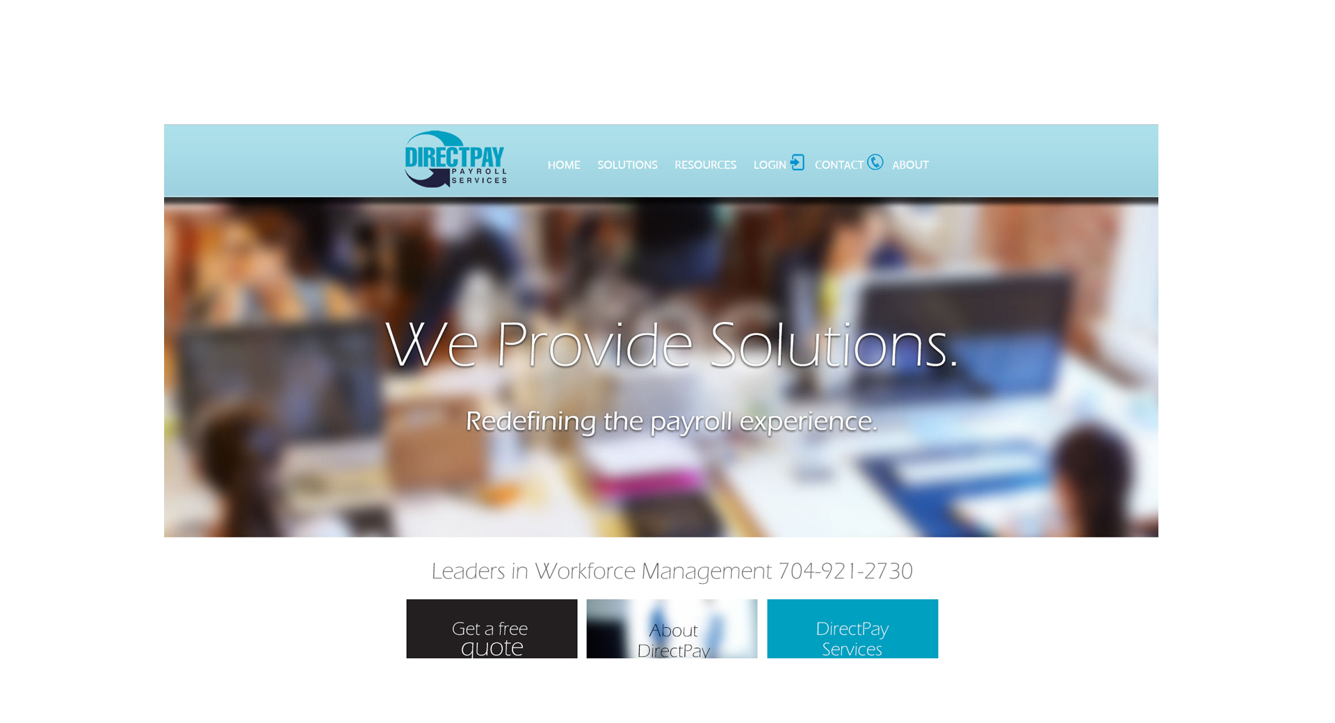 Website Design for the Financial Industry including Payroll Companies