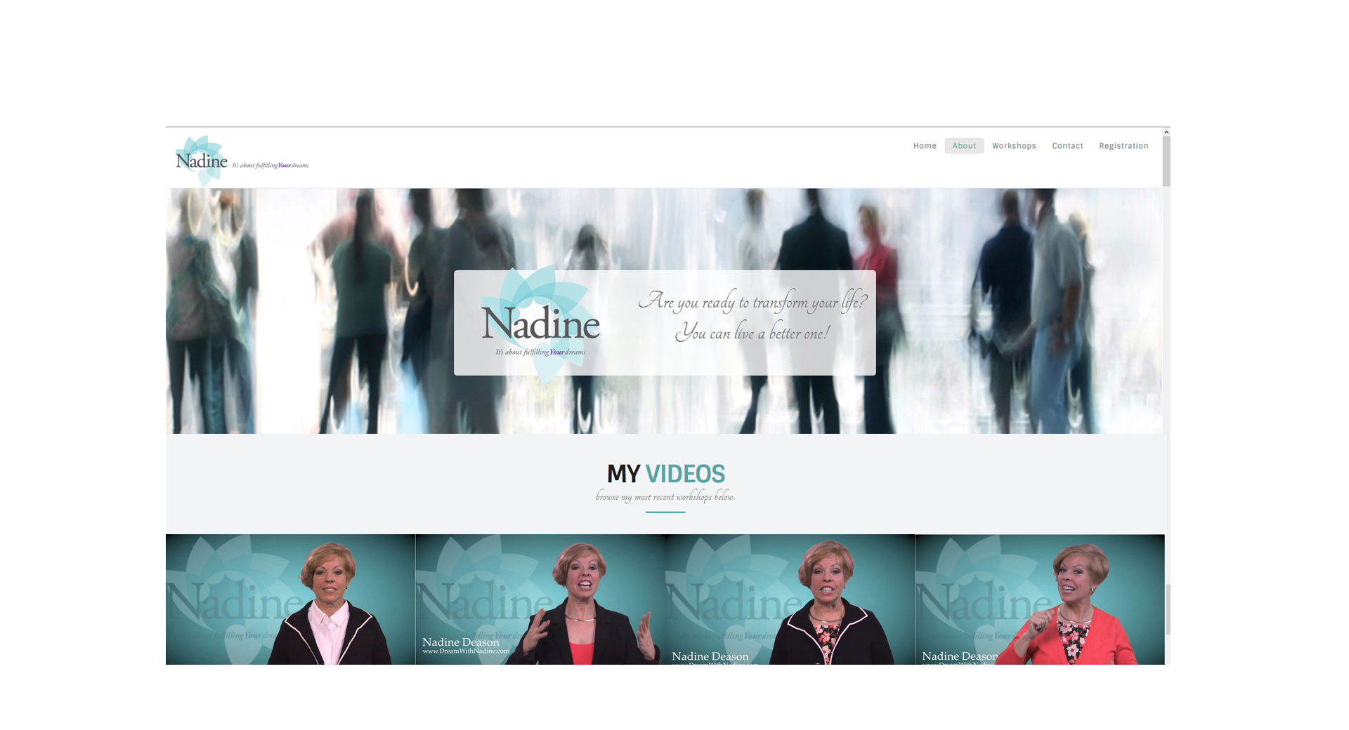 Website Design, Branding and Logo for Dream With Nadine