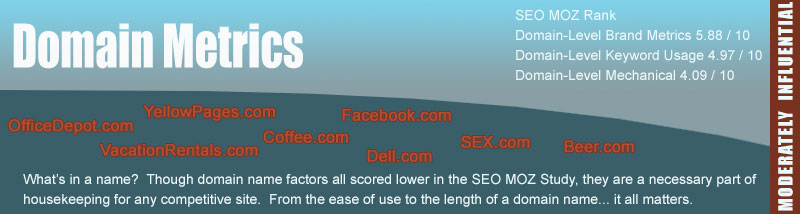 Domain Metrics for SEO